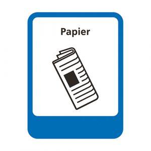 Afvalscheiding sticker afvalstroom papier 5,3x7 cm