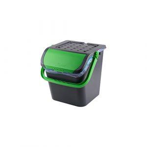 Stapelbare afvalemmer malpie 28 liter - groen