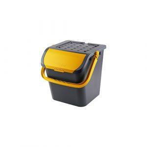 Stapelbare afvalemmer malpie 28 liter - geel