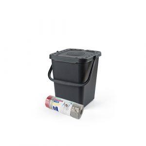 Luieremmer nuvola antraciet 10 liter + 50 luier afvalzakken
