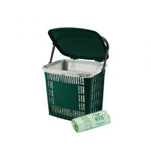 Afvalbakje groente & fruit Ecodutch + composteerbare zakjes